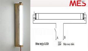 cách tự lắp đèn tuýp led