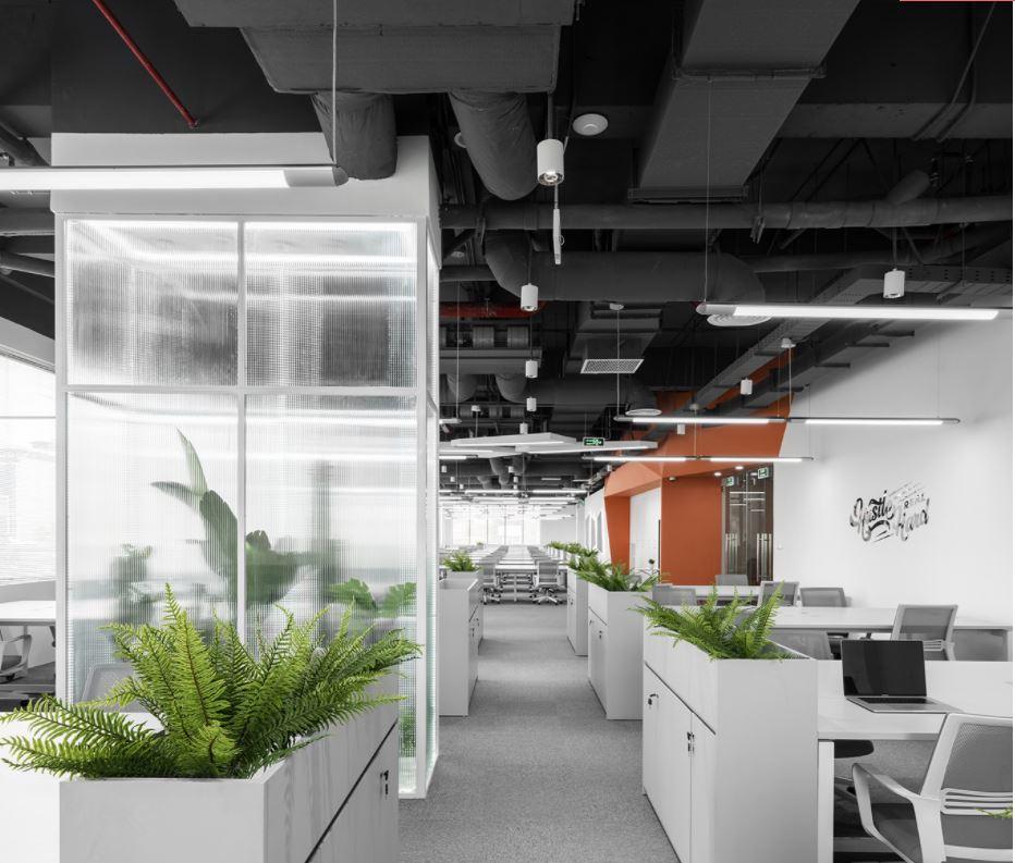 Đèn led thanh treo oval cho văn phòng
